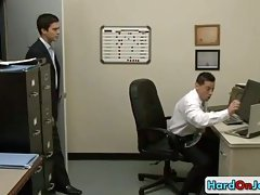 Guy sucking his gay boss
