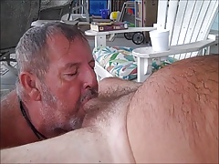 Daddy bear sucks cock 4