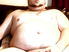 Another sexy chub wanking