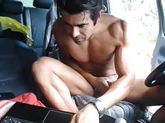 Horny hunks in car 25