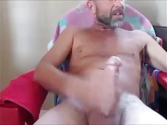 bearded mature man huge load