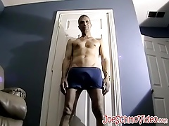 Horny little butt pirate was waiting all day to jack off