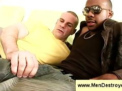 Trainer seduce black boy with big dick