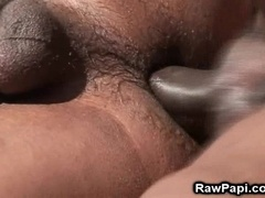 Big-assed black fag gets his ass pounded hard near a river