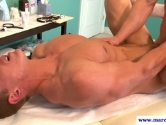 Tattooed muscular hunk fucking his lover
