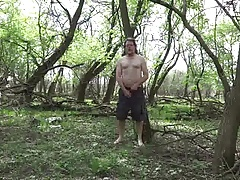 stripping in the forest