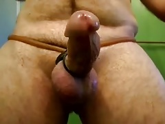Curved small thick hard dick big balls tortured with dowel