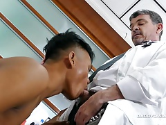 Daddy Mike Fucks Asian Boy Mikal