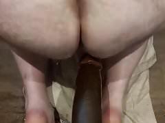 Huge Black Dildo in Ass