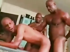 Hot gay black 3-some !!!