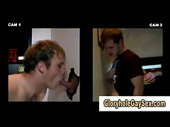 Straight guy gets off from glory hole