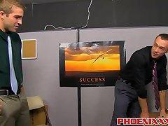 Handsome jocks Austin Ried and Kirk Cummings banging hard