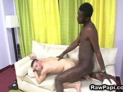 A dude gets his ivory ass smashed by a horny black queer