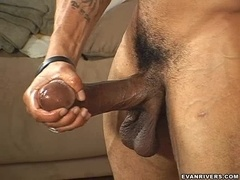 Brawny Guy Plays With His Big and Thick Cock