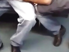 Cock sucking in public transport