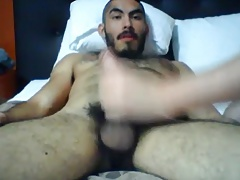 Hot latin bear getting serviced by his boy