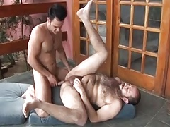 two ays with big dicks having fun together