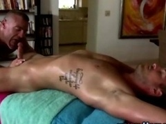 Homosexual girl-guy seduction massage ass fuck