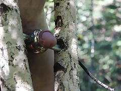Good masturbation in forest 3