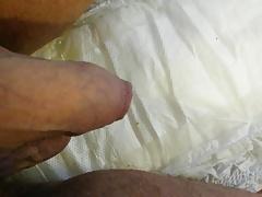 Peeing in diapee