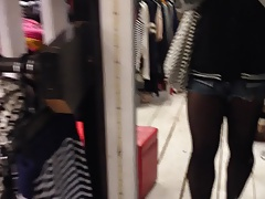 crossdressing in shopping mall