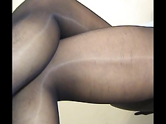 crossdresser pantyhose legs blue mini 010