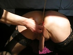 sissy fisted an caning by mistress part 2