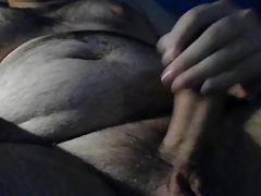 Chubby guy jerk and cum