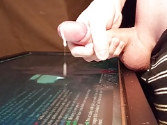 Tribute Slow Motion - Lorna (GW2) Precum Multiple Cumshots