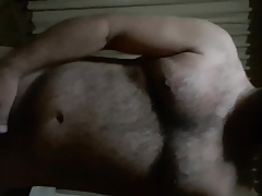 Beefy hairy friend let me lick his big balls