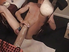 Gay dildo play solo