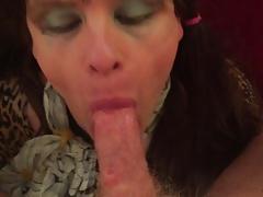 UK TV Alexis Bane sucking cock and getting facial cumshot