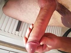 Big German Cock strocking with nice Cumshot