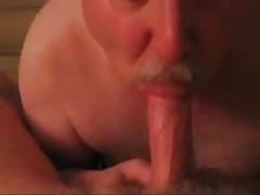 Mature men sucking another men's cock