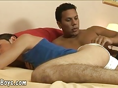 Fat black cock for a cute twink