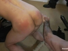Slutty queer gets his ass smashed by a few men in a bedroom