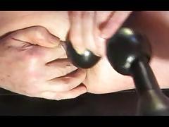 gay man fisting anal toy dildo fetish crossdresser