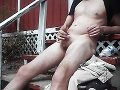outdoor fun on sunny day, cum shot