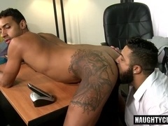 Latin gay oral sex and facial