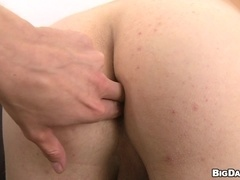 Horny gay blows and gets his ass fingered and banged from behind