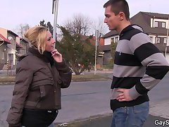 He gets fooled and used as gay slut boy
