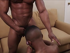 Black cock in his mouth