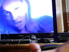 cumming to music video