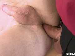 Fair-haired poofter Joseph gets his mouth and ass fucked deep