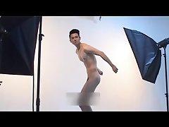 Cute naked guy posing