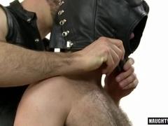 Big dick wolf threesome with cumshot