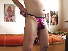 sexy glaenzender g-string