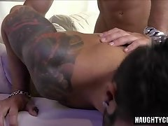Big cock gay anal sex with facial