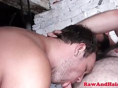 Pierced superchub barebacks cocksucking cub