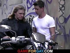 Tough biker drills his ass eagerly